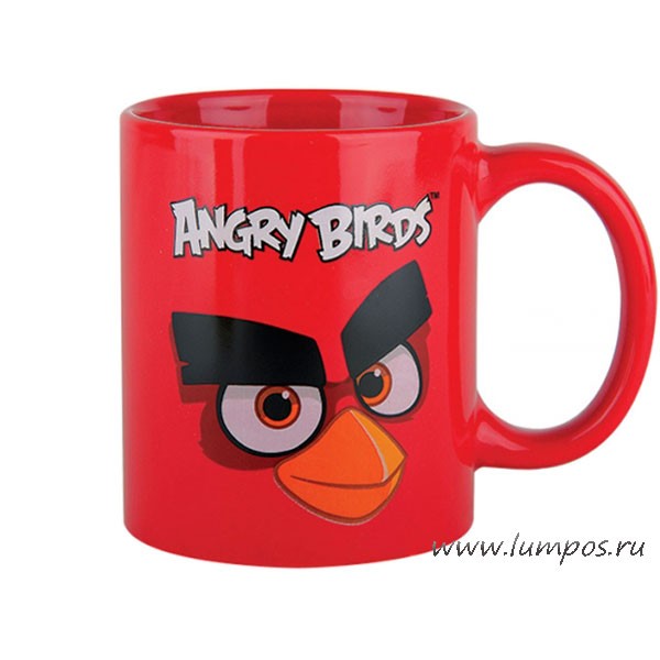 Кружка ANGRY BIRDS RED, 340мл.